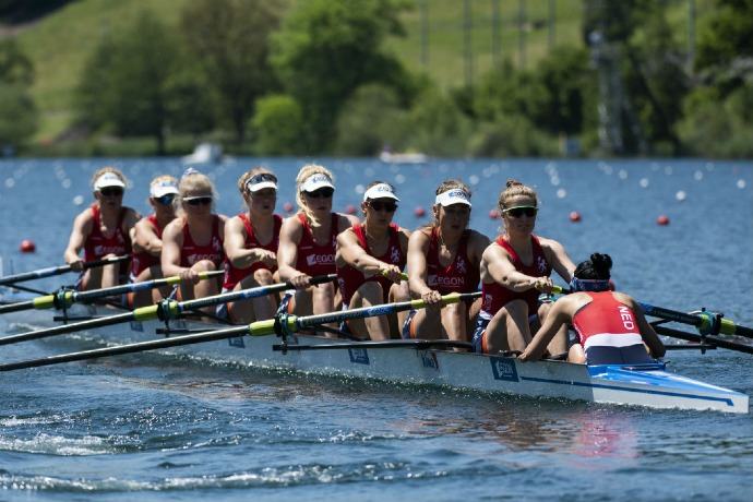 Kiwa rowing fleet - Women eight rowing team - KNRB